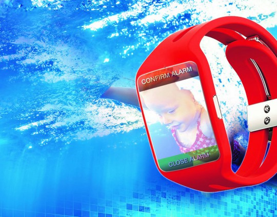Drowning baby, alarm in the smartwatch